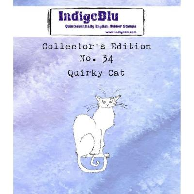 IndigoBlu Collector's No. 34 Rubber Stamp - Quirky Cat