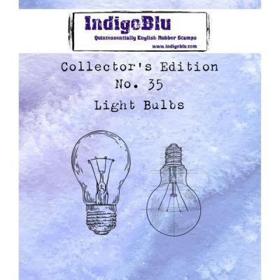 IndigoBlu Collector's No. 35 Rubber Stamps - Light Bulbs