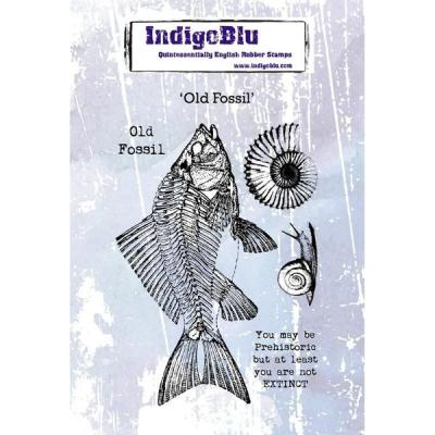 IndigoBlu Rubber Stamps - Old Fossil