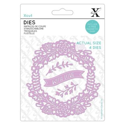 XCut Small Dies - With Love Wreath