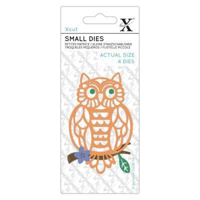 XCut Small Dies - Folk Owl