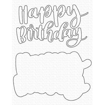 My Favorite Things Die-Namics - Hand-Lettered Happy Birthday