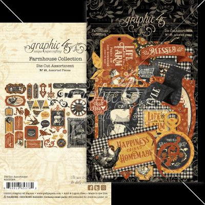 Graphic 45 Farmhouse - Die-Cut Assortment