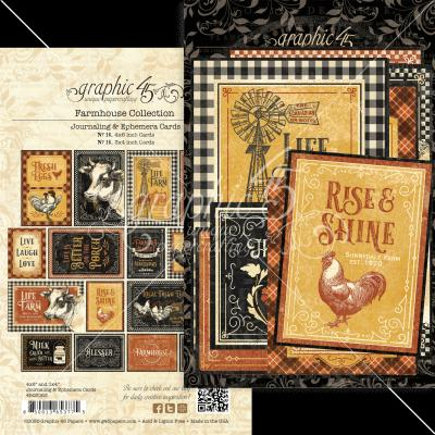 Graphic 45 Farmhouse Die Cuts - Ephemera & Journaling Cards