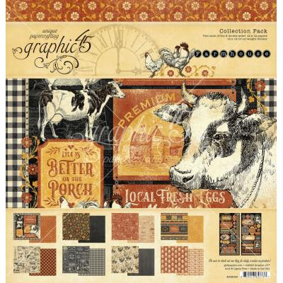 Graphic 45 Farmhouse Designpapier - Collection Pack
