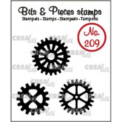 Crealies Clear Stamps Bits & Pieces - Zahnräder (solide) CLBP209