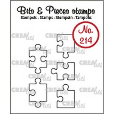 Crealies Clear Stamps Bits & Pieces - Puzzle (Umriss) CLBP214