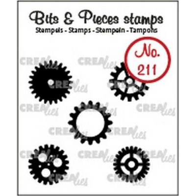 Crealies Clear Stamps Bits & Pieces - Zahnräder klein (solide) CLBP211