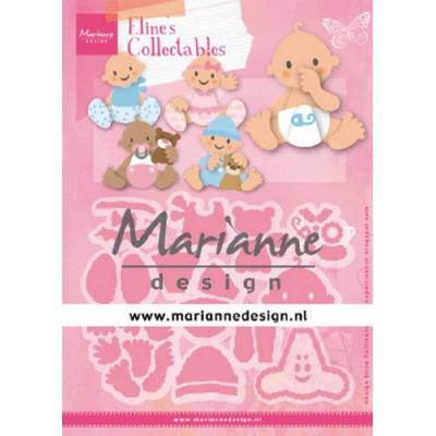 Marianne Design Stanz und Prägeschablone Collectable Eline/'s Panda /& Bär