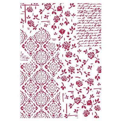 Stamperia Stencil - Roses and Decorations