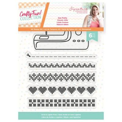 Crafter's Companion Crafty Fun Clear Stamps - Sew Pretty