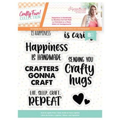 Crafter's Companion Crafty Fun Clear Stamps - Happiness is Handmade