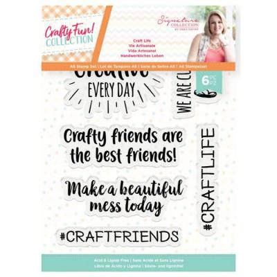 Crafter's Companion Crafty Fun Clear Stamps - Life