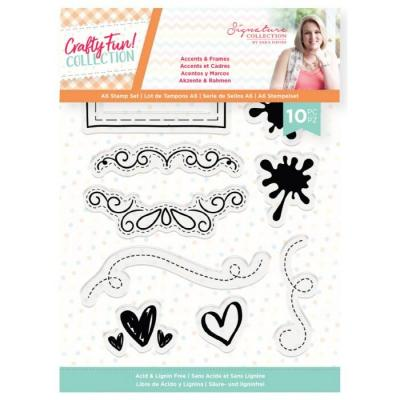 Crafter's Companion Crafty Fun Clear Stamps - Accents & Frames