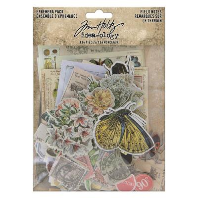 Idea-ology Tim Holtz Die Cuts - Field Notes Ephemera Pack