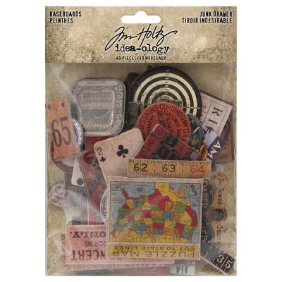Idea-ology Tim Holtz Die Cuts - Junk Drawer Baseboards