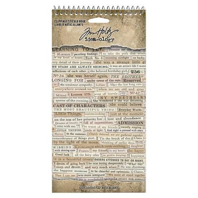 Idea-ology Tim Holtz - Clipping Stickers Book