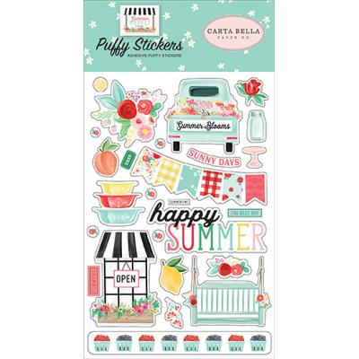 Carta Bella Summer Market Stickerbogen - Puffy Stickers