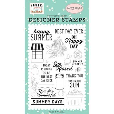 Carta Bella Summer Market Clear Stamps - Happy Summer