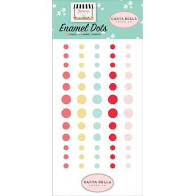 Carta Bella Summer Market - Embellishments - Enamel Dots