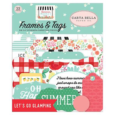 Carta Bella Summer Market  Die Cuts - Frames & Tags