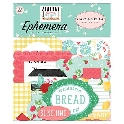 Carta Bella Summer Market  Die Cuts - Ephemera