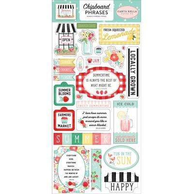 Carta Bella Summer Market  Stickerbogen - Chipboard Phrases