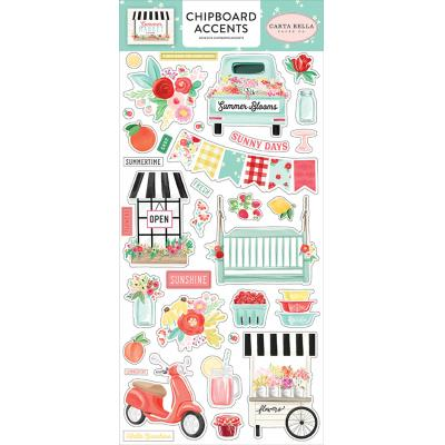 Carta Bella Summer Market  Stickerbogen - Chipboard Accents