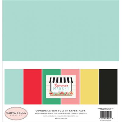 Carta Bella Summer Market Cardstock - Solids Kit