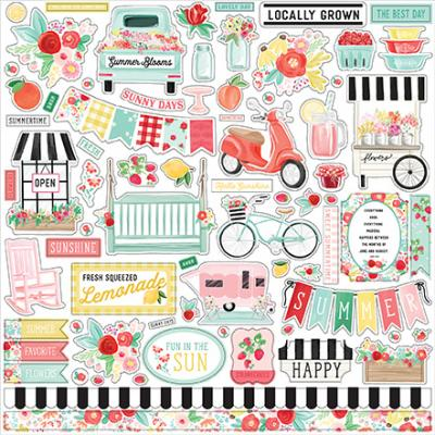 Carta Bella Summer Market  Stickerbogen - Element Sticker
