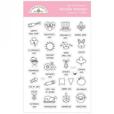 Doodlebug Design Doodle Clear Stamps - Occasions Holiday
