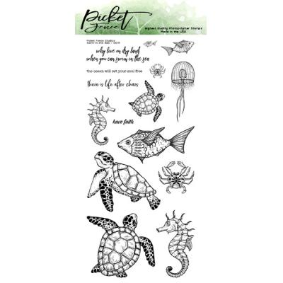 Picket Fence Studios Clear Stamps - Swim In The Sea