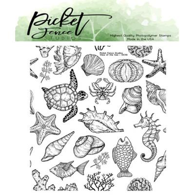 Picket Fence Studios Clear Stamp - View of the Sea