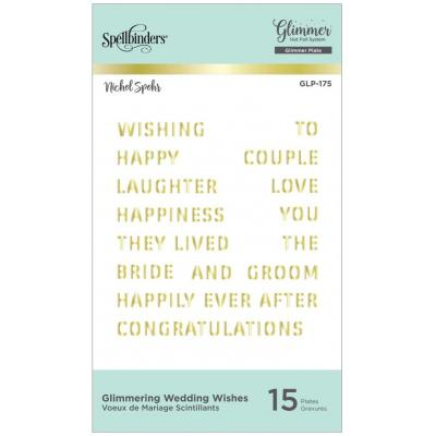 Spellbinders Hot Foil Plates - Glimmering Wedding Wishes