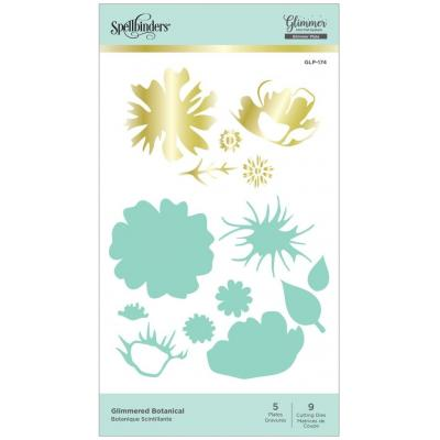 Spellbinders Hot Foil Plates - Glimmered Botanical