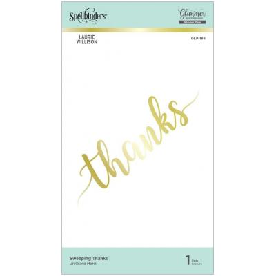 Spellbinders Hot Foil Plates - Sweeping Thanks