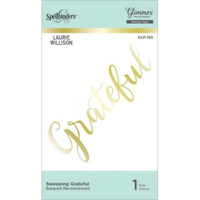 Spellbinders Hot Foil Plates - Sweeping Grateful