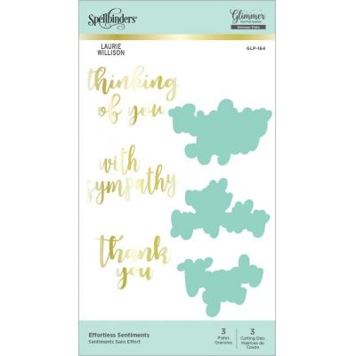 Spellbinders Hot Foil Plates - Effortless Sentiments