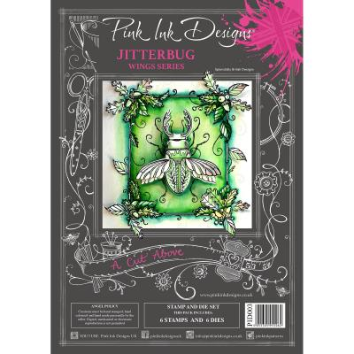 Creative Expressions Pink Ink Clear Stamps & Die - Jitterbug