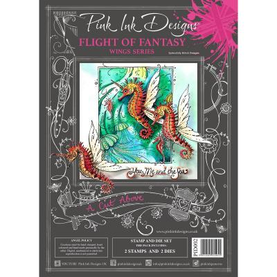 Creative Expressions Pink Ink Clear Stamps & Die - Flight Fantasy