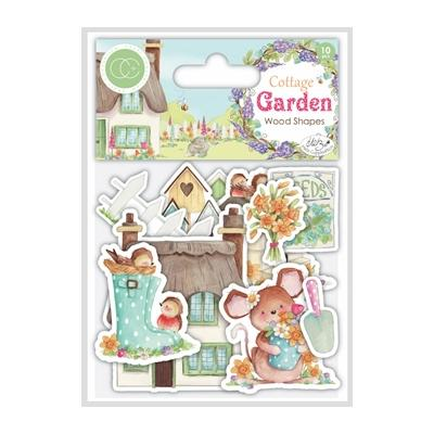 Craft Consortium Cottage Garden - Wooden Shapes