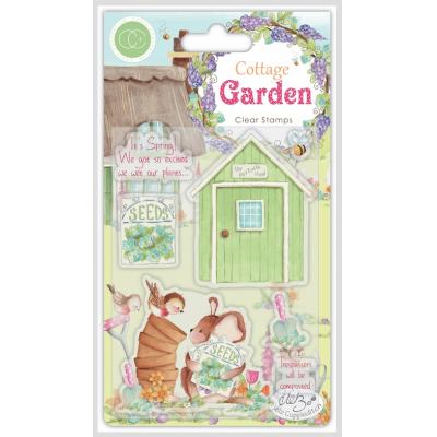 Craft Consortium Cottage Garden Clear Stamps - The Potting Shed