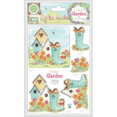 Craft Consortium Cottage Garden - 3D Decoupage Set