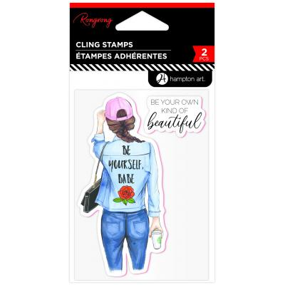 Hampton Art Rubber Stamps - Be Yourself, Babe