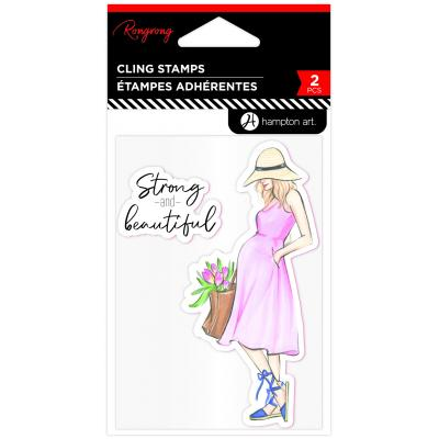 Hampton Art Rubber Stamps - Strong & Beautiful