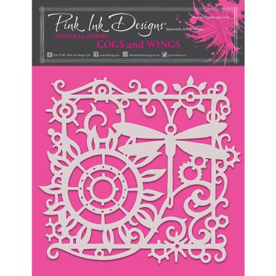 Creative Expressions Stencil - Cogs and Wing