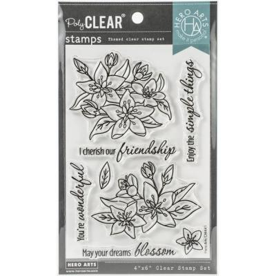Hero Arts Clear Stamps - Dreams Will Blossom