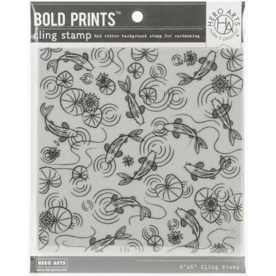 Hero Arts Cling Stamps - Koi Pond Bold Prints