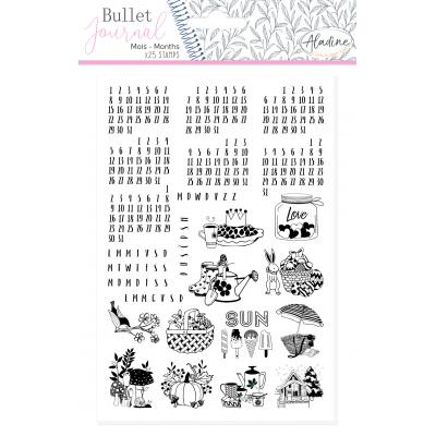 Aladine Bullet Journal Foam Stamps - Universal Months