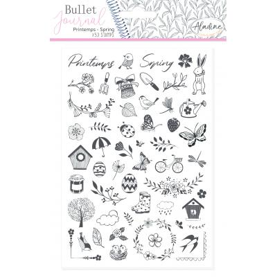 Aladine Bullet Journal Foam Stamps - Spring